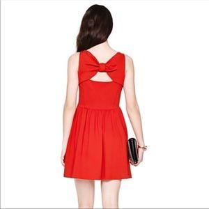 kate spade Dresses - KS Ponte Pocket Bow back RED dress fit & flare
